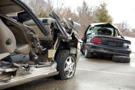 Wrecked Vehicles After Car Accident